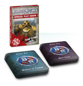 BLOOD BOWL CARDS SPECIAL PLAY TEAM TITANS PACK DICEHEADdotCOM