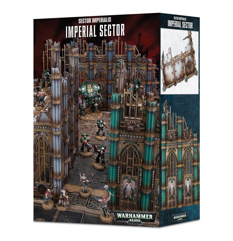 WARHAMMER 40k TERRAIN IMPERIAL SECTOR IMPERIALIS DICEHEADdotCOM (ADD S&H APPLIES)