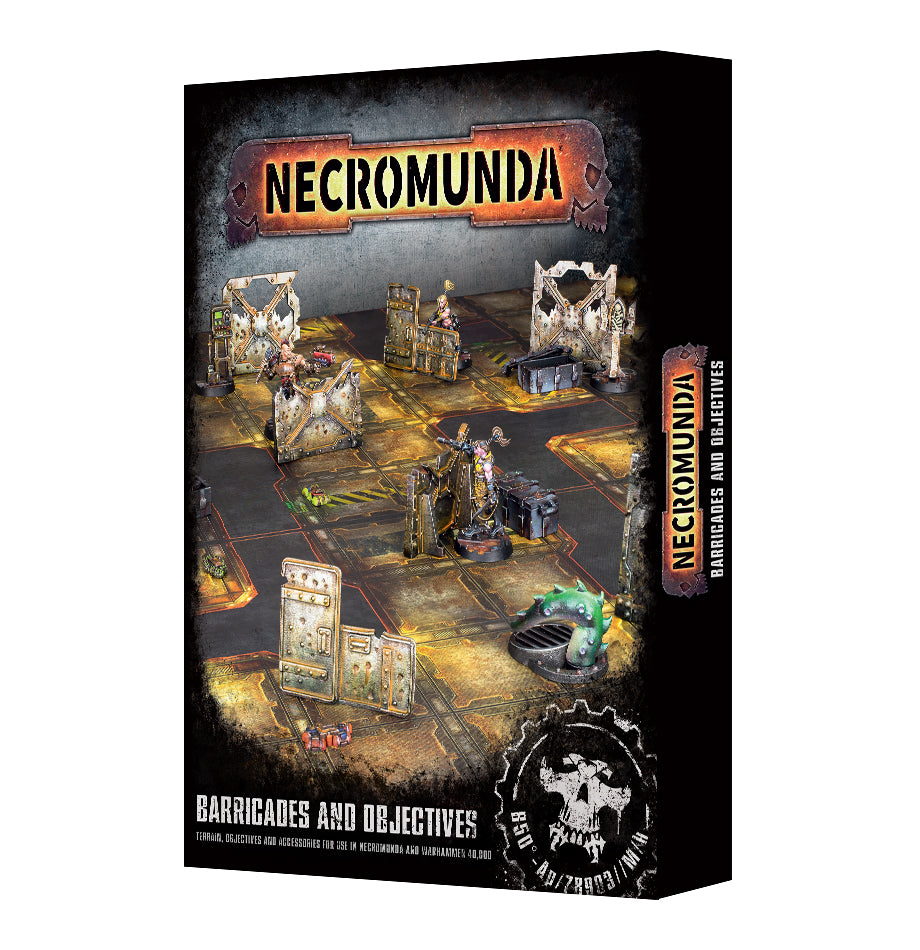 Necromunda Barricades and Objectives PRE-ORDER DICEHEADdotCOM