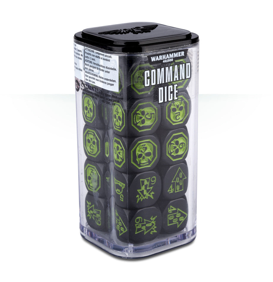 WARHAMMER 40k 8TH ED COMMAND DICE  DICEHEADdotCOM