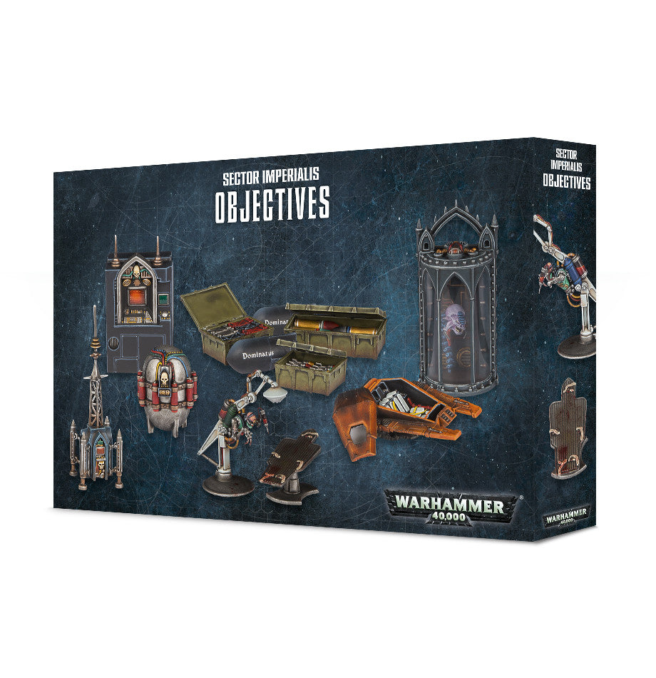WARHAMMER 40k 8TH ED SECTOR IMPERIALIS OBJECTIVES  DICEHEADdotCOM