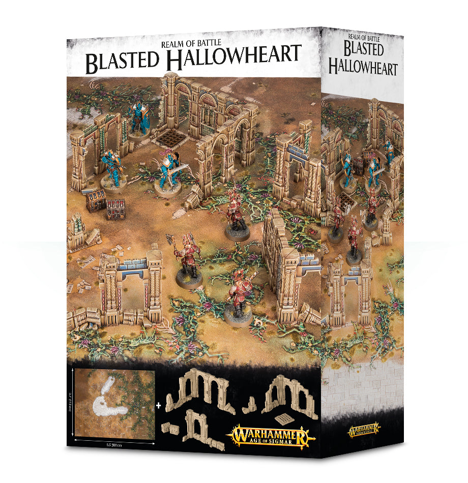 REALM OF BATTLE BLASTED HALLOWHEART DICEHEADdotCOM (ADD $3 S&H)