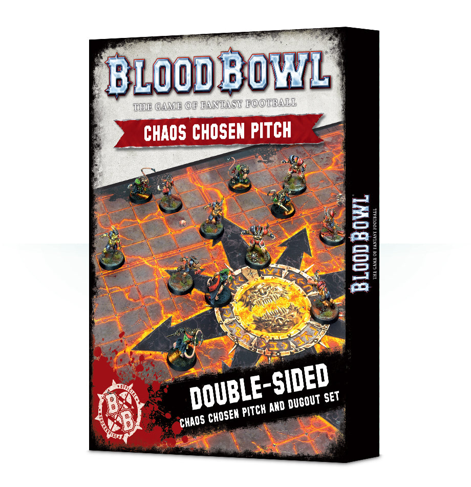 BLOOD BOWL CHAOS PITCH & DUGOUTS DICEHEADdotCOM