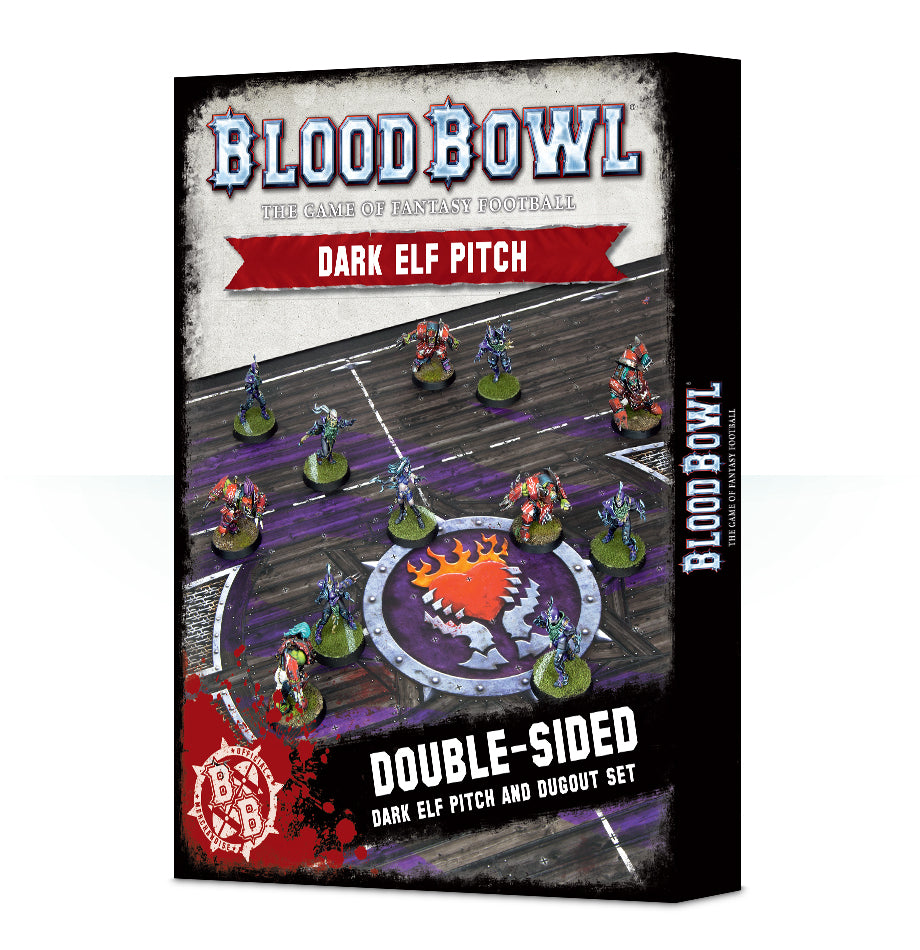 BLOOD BOWL DARK ELF PITCH & DUGOUTS DICEHEADdotCOM