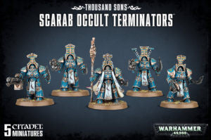 Chaos Space Marines THOUSAND SONS SCARAB OCCULT TERMINATORS DICEHEADdotCOM