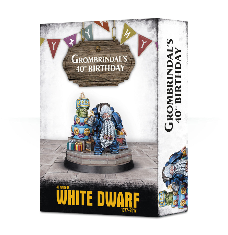 GROMBRINDAL 40 YEARS OF WHITE DWARF (AWSL) DICEHEADdotCOM