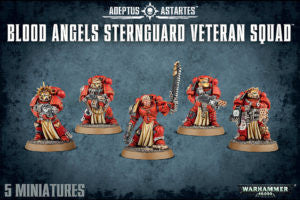 BLOOD ANGELS STERNGUARD VETERAN SQUAD SPECIAL ORDER DICEHEADdotCOM