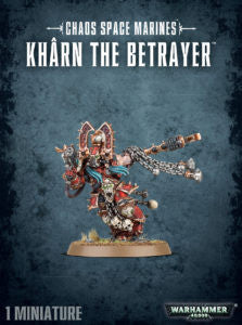 Chaos Space Marines Kharn the Betrayer DICEHEADdotCOM
