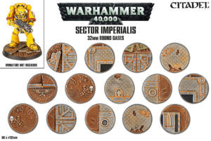 CITADEL SECTOR IMPERIALIS 32MM ROUND BASES (QTY 60) DICEHEADdotCOM