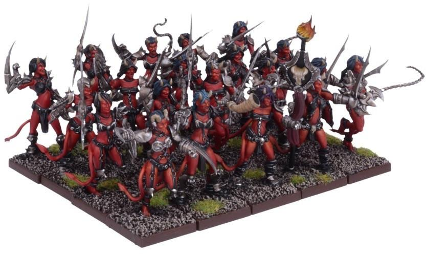 """Kings of War: Forces of the Abyss - Succubi Regiment