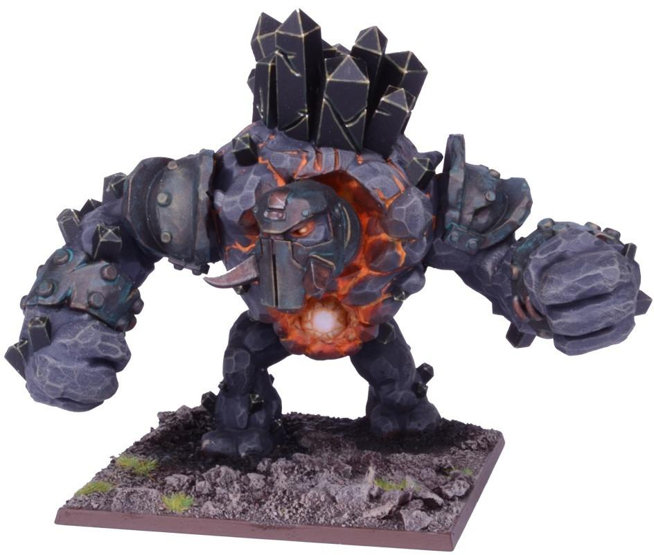 Kings of War: Abyssal Dwarf Greater Obsidian Golem