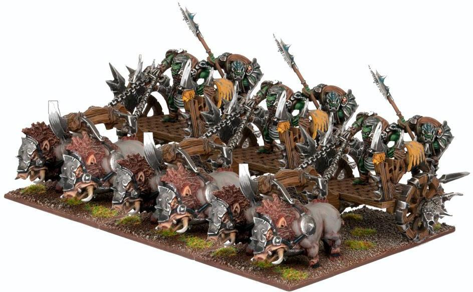 Kings of War: Orc Chariot Regiment