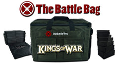 The Battle Bag - Army Carrying Case - Kings of War Foam Included