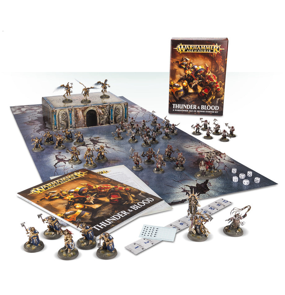 AGE OF SIGMAR THUNDER & BLOOD DICEHEADdotCOM