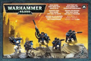 Space Marine Scouts With Sniper Rifles DICEHEADdotCOM