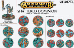 CITADEL AOS SHATTERED DOMINION 25 and 32MM ROUND DICEHEADdotCOM