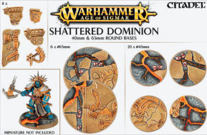 CITADEL AOS SHATTERED DOMINION 40 and 65MM ROUND DICEHEADdotCOM