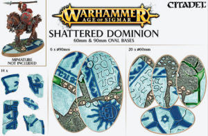CITADEL AOS SHATTERED DOMINION 60 and 90MM OVAL  DICEHEADdotCOM