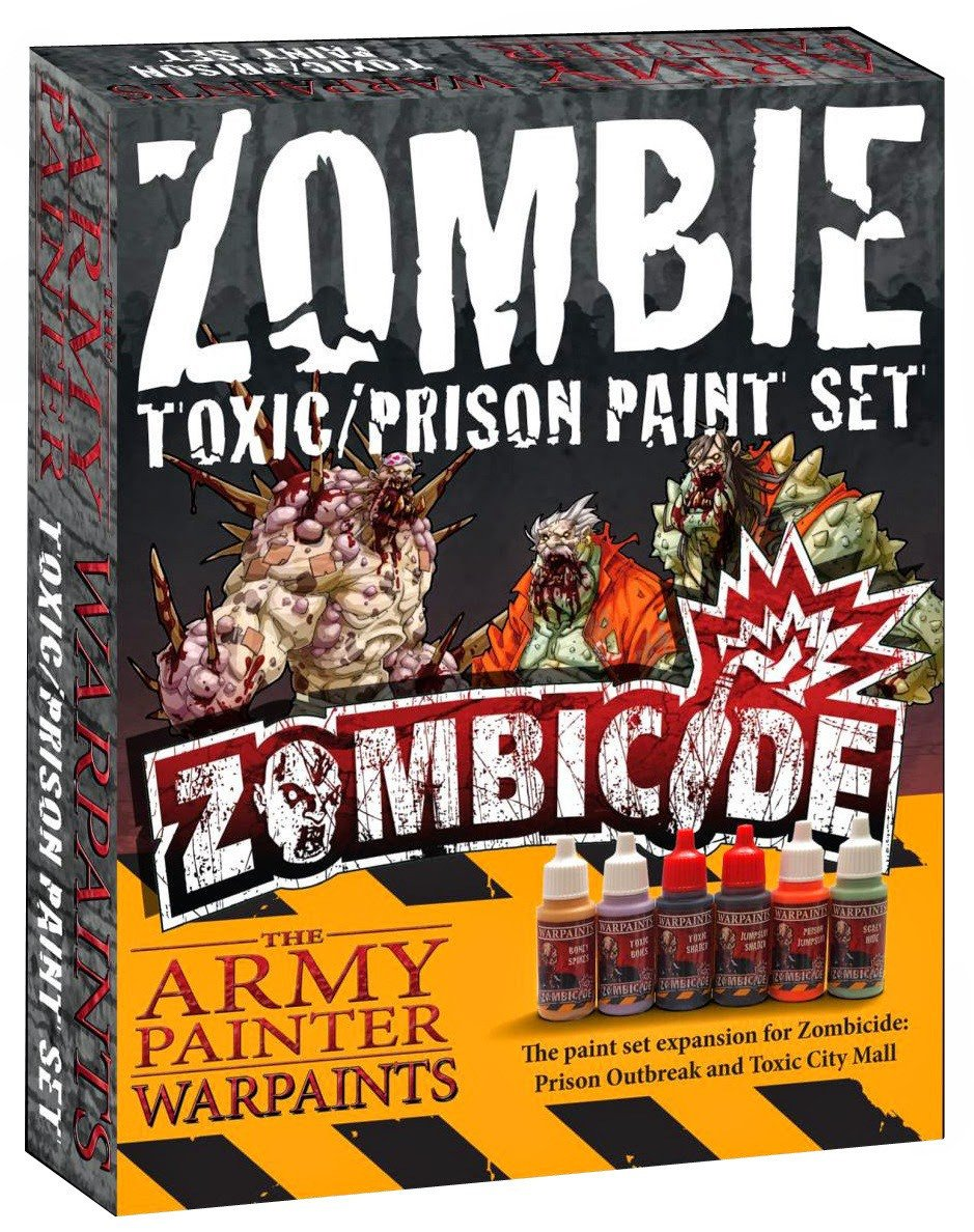 """Army Painter Zombicide: Toxic/Prison expansion paint set