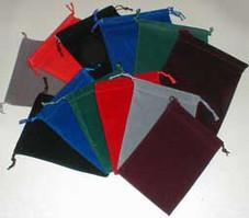 """Burgundy Large Dice Pouch (5 inchX7 inch)
