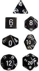"""Translucent Smoke/White Polyhedral dice set (7)