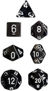 """Translucent Smoke/White 12mm d6 dice set (36)