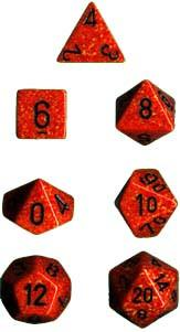 """Speckled Fire Polyhedral dice set (7)