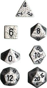 """Speckled Artic Camo Polyhedral dice set (7)