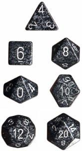"""Speckled Ninja Polyhedral dice set (7)