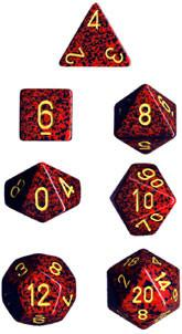 """Speckled Mercury Polyhedral dice set (7)