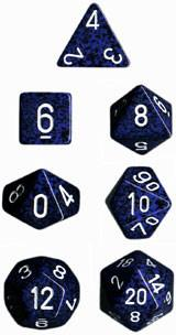 """Speckled Stealth Polyhedral dice set (7)