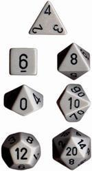 """Opaque Dark Grey/Black polyhedral dice set (7)
