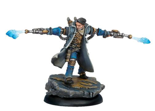 Warmachine Cygnar Epic Caster Captain Allister Cain WEB
