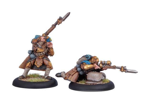Warmachine Cygnar Trencher Officer & Sharpshooter WEB