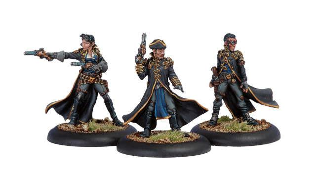 Warmachine Cygnar Black 13th Gun Mage Strike Team WEB