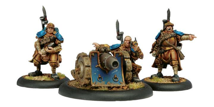 Warmachine Cygnar Trencher Cannon Crew WEB
