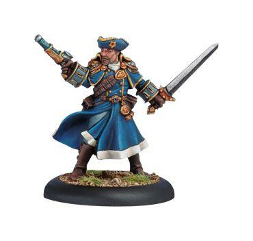 Warmachine Cygnar Arcane Tempest Gun Mage Officer WEB