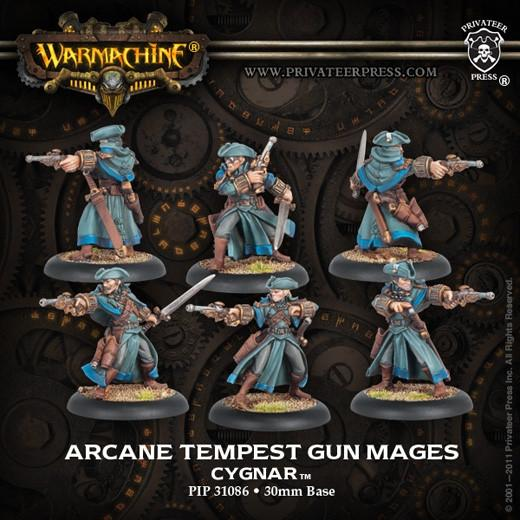 Warmachine Arcane Tempest Gun Mages Box (resculpt) WEB