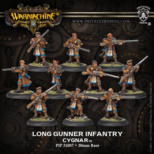 Warmachine Cygnar Long Gunners (new packaging) WEB