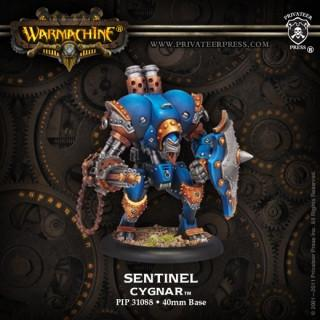 Warmachine Cygnar Sentinel PLASTIC Light Warjack Box WEB