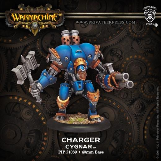 Warmachine Cygnar Charger PLASTIC Light Warjack Box WEB
