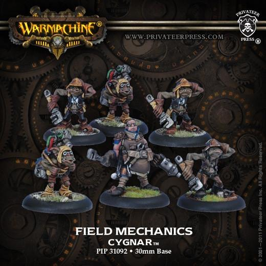 Warmachine Cygnar Field Mechaniks (new packaging) WEB