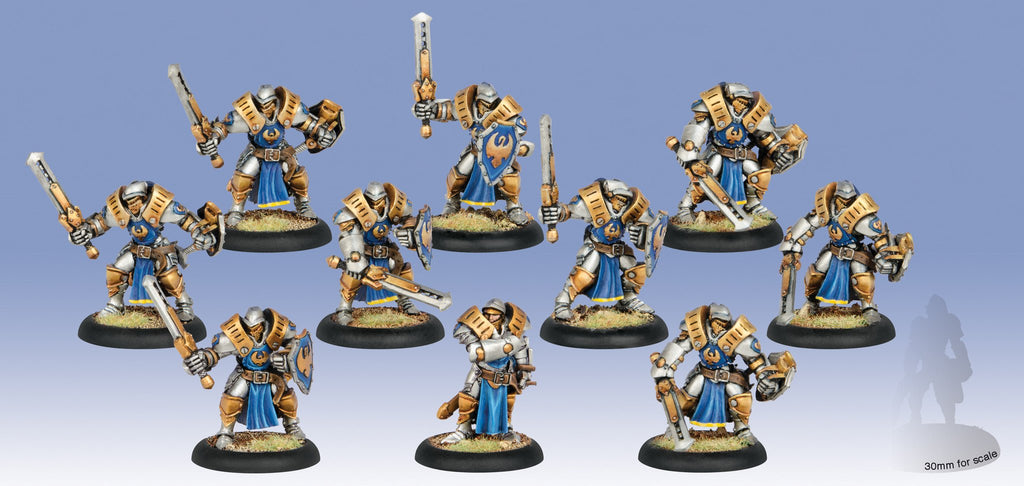 Warmachine Cygnar Sword Knights Unit (10) Box WEB