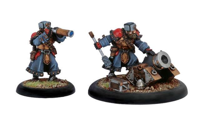 Warmachine Khador Winter Guard Mortar and Crew WEB