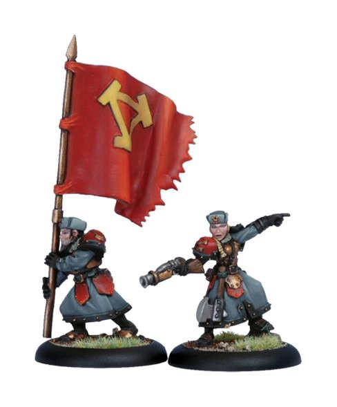 Warmachine Khador Winter Guard Officer & Standard WEB