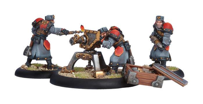 Warmachine Khador Winter Guard Field Gun with Crew WEB