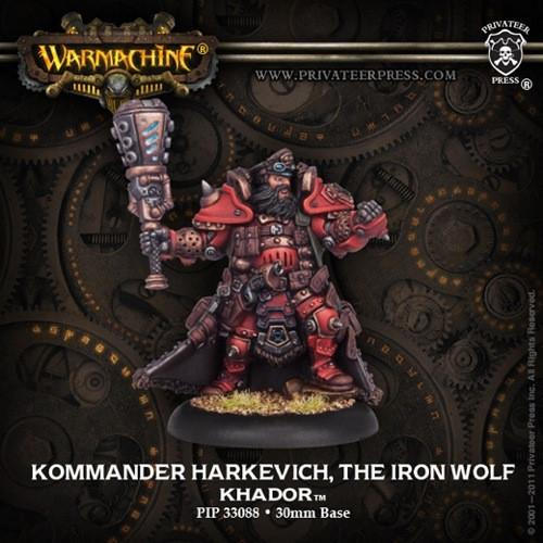 Warmachine Khador Kommander Harkevich the Iron Wolf WEB