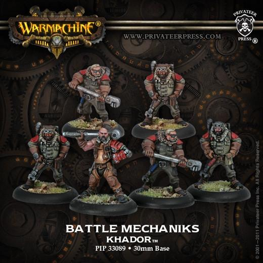 Warmachine Khador Battle Mechaniks (new packaging) WEB