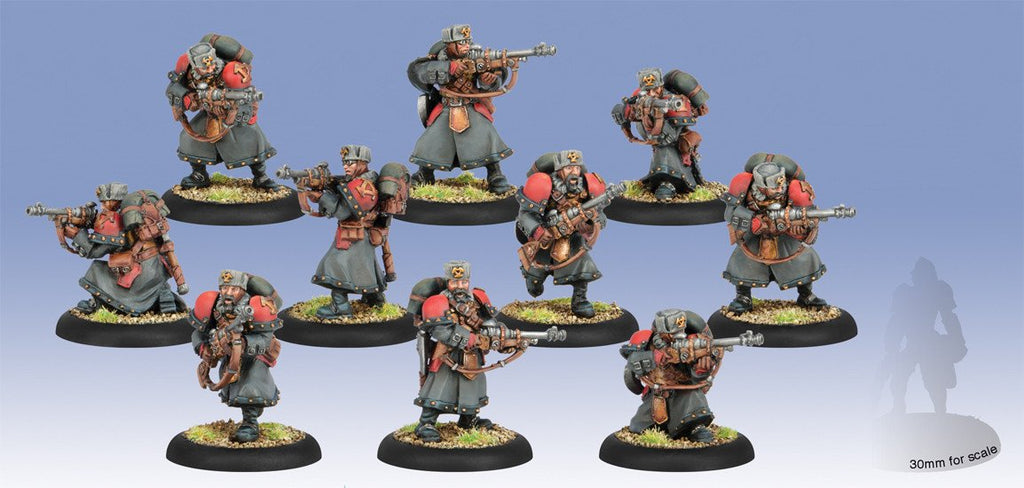 Warmachine Khador Winter Guard Rifle Corps PLASTIC Unit (10) Box WEB