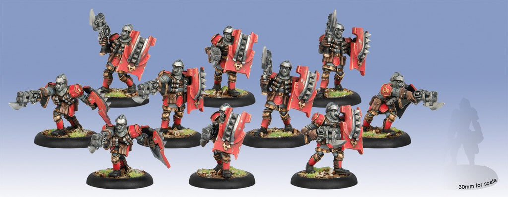 Warmachine Khador Assault Kommandos Unit (10) (repackage) Box WEB